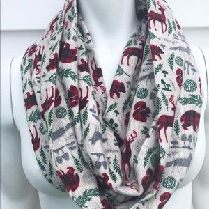 Squirrel flannel scarf